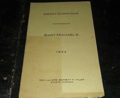1934 saint michel's mission-chief yellow calf indian catechist presentation card