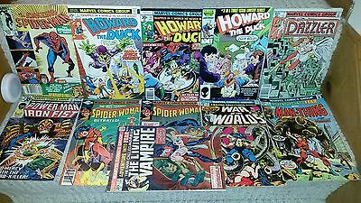 Marvel Comics 11-Book Bronze-Age Lot ASM Howard The Duck Fear Spider Woman