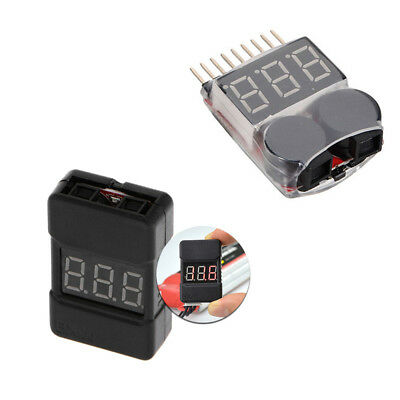 """ 1-8S BX100 2 In1 Lipo Li-ion Battery Low Voltage Tester Buzzer Alarm Dual Spea"