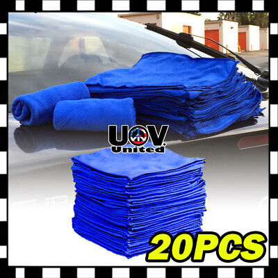 25 PCS Microfiber Cleaning Cloth Towel No-Scratch Rag Car Polishing Detailing