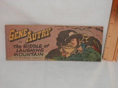 Gene Autry The Riddle Of Laughing Mountain Western Pocket Comic 1950