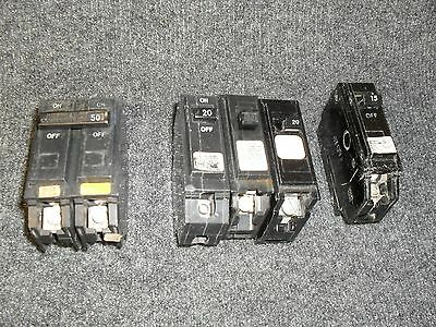 Assorted General Electric Type Circuit Breakers