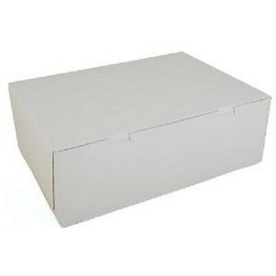 50 count WHITE 14 x10 x 4 Bakery / Cake Box with Cupcake Inserts