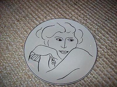 Sango Francesca 10 1/2  Dinner Plate 6153 White Black Dinnerware Portrait & SANGO FRANCESCA 10 1/2