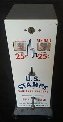 Vintage Usps Postage Stamp Coin Operated Vending Machine