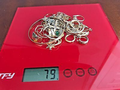 14k Solid gold Mixed Lot - 79 grams weight