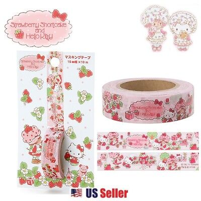 Sanrio Strawberry Shortcake x Hello Kitty Masking Deco Tape (15mm x 10m)