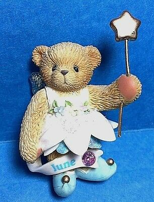 Cherished Teddies June Birthstone Bear Figurine 2002 P.H. Enesco #10591