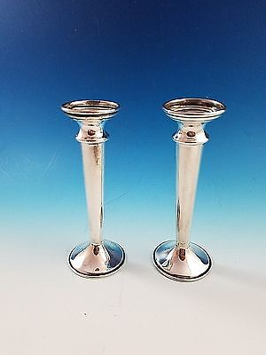 Pair of Sterling Silver Bud Vases by Schofield