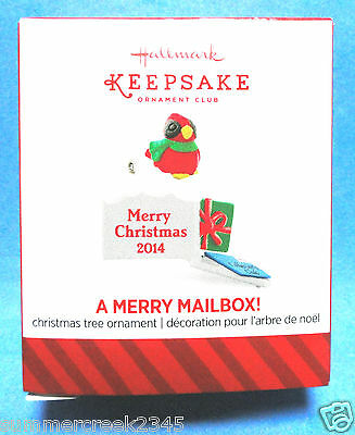 "Hallmark ""A Merry Mailbox"" Miniature Ornament 2014"