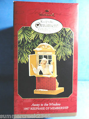 "Hallmark ""Away to the Window"" Ornament Dated 1997"