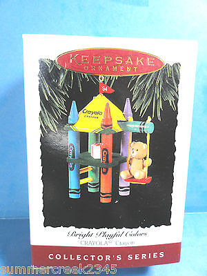 "Hallmark ""Bright Playful Colors"" Ornament  Dated 1994"