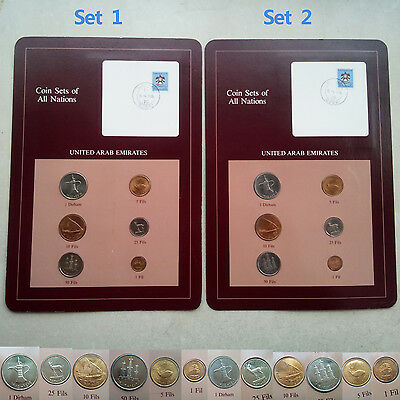 Two sets   Coin Sets of All Nations UAE United Arab Emirates Franklin mint set