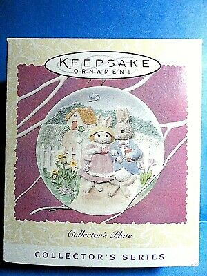 "Hallmark ""Collector's Plate"" Spring Collection Ornament 1997"