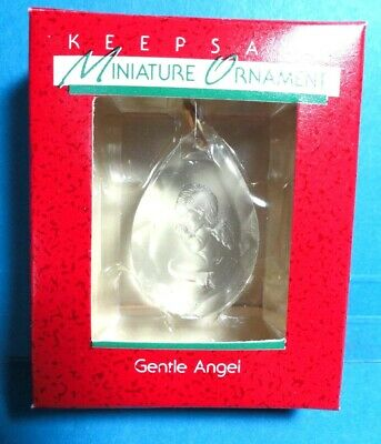 "Hallmark ""Gentle Angel"" Miniature Ornament 1988"