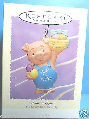 "Hallmark ""Ham N Eggs"" Easter Collection Ornament 1995"