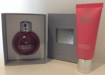 BNIB MOLTON BROWN FESTIVE BAUBLE AND HAND CREAM SET - Pink/ Lilac