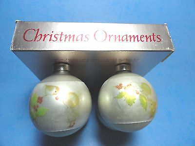 "Hallmark ""Little Miracles"" Ruth Morehead Set of Four Ball Ornaments 1975"