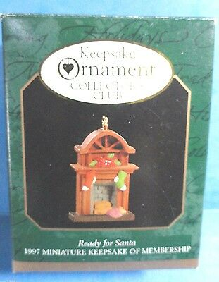 "Hallmark ""Ready for Santa"" Miniature Ornament Dated 1997"