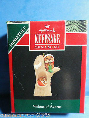 "Hallmark ""Visions of Acorns"" Miniature Ornament 1992"