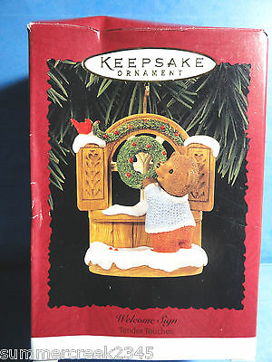"""Hallmark """"Welcome Sign"""" Ornament Dated 1996"""