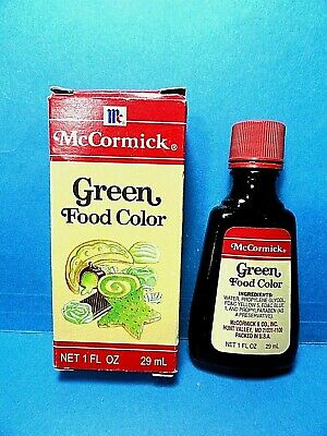 VINTAGE CRESCENT Green Food Coloring - $9.99 | PicClick