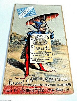"""Victorian Trade Card """"James Pyle's Pearline Soap"""" New York"""