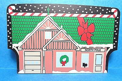 """The Cats Meow """"North Pole Depot"""" North Pole Collection Shelf Sitter 2002"""