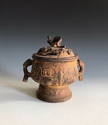 A Chinese Patinated Metal Archaic Style Censer