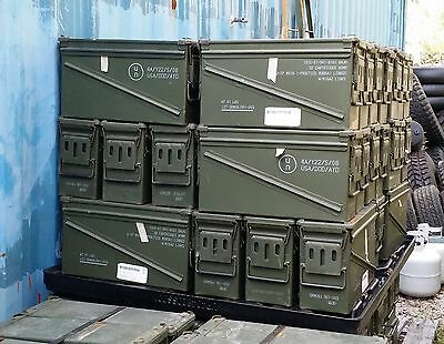 4 Military 40mm Ammunition AMMO Cans in Grade A Condition Emergency Storage NICE