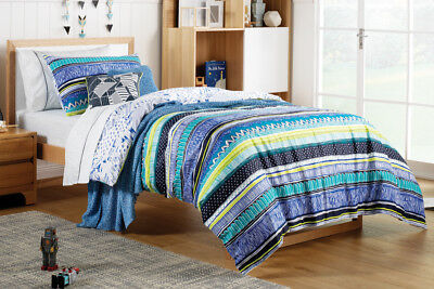 NEW Sheridan Starling Kids Quilt Cover Set - Electric Blue
