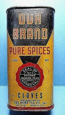 """Vintage """"OUR BRAND"""" Brand Cardboard Cloves Spice Tin    Free Shipping"""