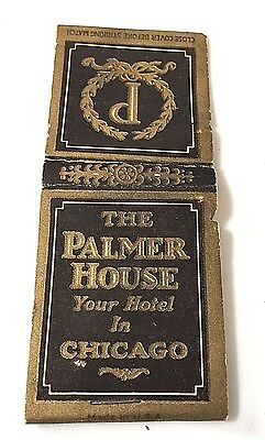 "Vintage ""The Palmer House Hotel""  Matchbook Cover Only Chicago Illinois"