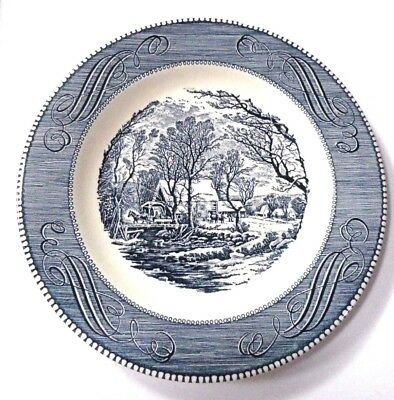 """Vintage Currier and Ives American Homestead 10"""" Dinner Plate #2 FREE SHIPPING"""