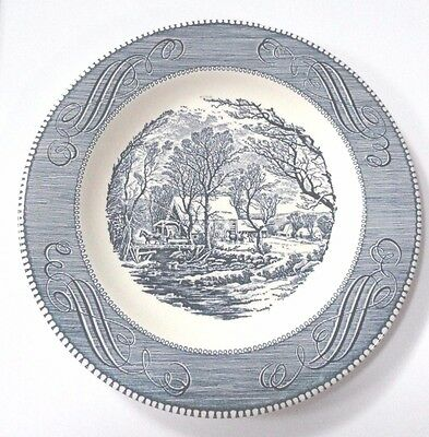 """Vintage Currier and Ives American Homestead 10"""" Dinner Plate FREE SHIPPING"""