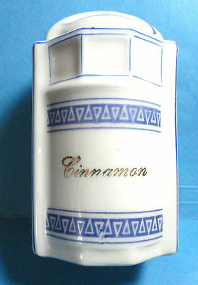 Vintage German Blue & White Cinnamon Spice Canister Jar