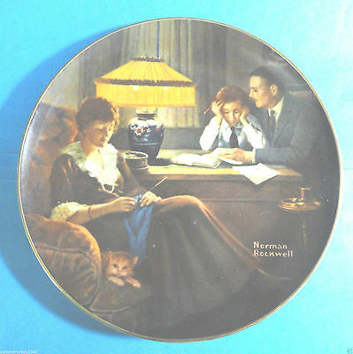 "Vintage Norman Rockwell ""Father's Help"" Collectors Plate No.793 M"