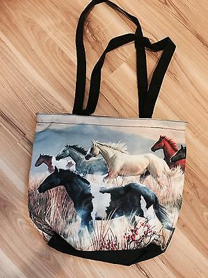 Horse Tote Bag Free Post Herd Horses Mustang Brumby RELISTED DUE TO NON PAYER