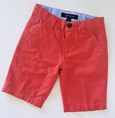 Kid Tommy Hilfiger Red Like New Shorts Youth kids Size 6 Hidden Stretch Belt