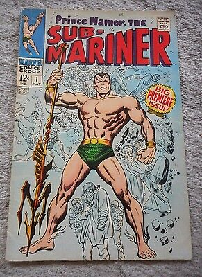 Prince Namor, the SUB-MARINER #1 May 1968 Marvel Comic Books