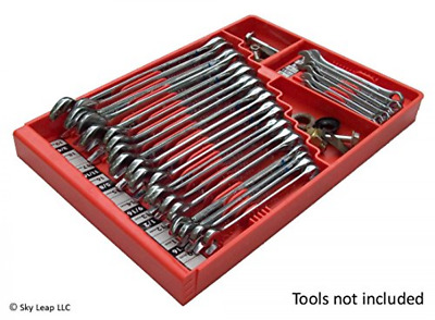 Wrench Socket Organizer Holder SAE Metric Wrenches Craftsman Tool Box Rail Tray