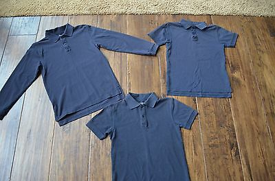 Lot of 3 Boys IZOD Navy Uniform polos, Size 8/10, EUC!