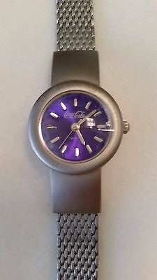1999 Ladies/Women's COCA-COLA Coke WATCH with SILVER MESH Adjustible WRIST BAND