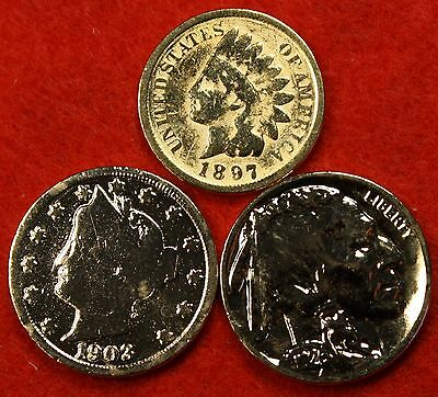 Gold Plated Buffalo And Liberty Nickels One Of Each Free Gold Plated Indian Cent
