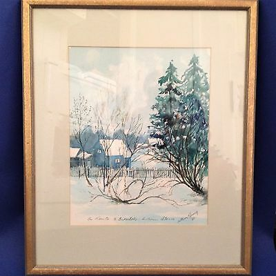 Framed Original Watercolour  - The Route to Irkutsk, Southern Siberia - Signed