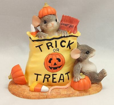 Charming Tails Fitz and Floyd Halloween BAG OF TRICKS OR TREATS #87/436 IOB