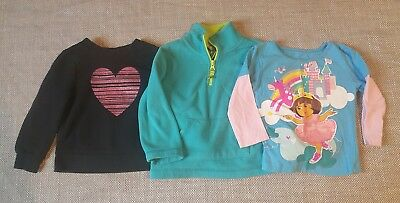 Girls size 2T long sleeve shirt lot