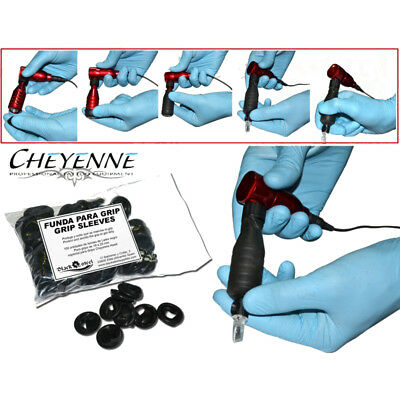 100 Fundas Desechables de Latex para Grips Cheyenne Tatuajes Tattoo Sleeves