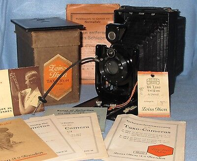 NOS ZEISS IKON 64 TAXO 9x12cm folding plate camera FREE SHIPPING