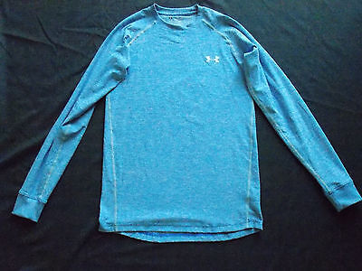 Under Armour Long Sleeve Shirt Mens Sz S Blue Fitted Cold Gear
